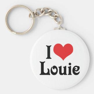 Amo a Louie Llavero Redondo Tipo Pin