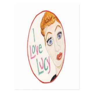 Amo a Lucy Tarjeta Postal