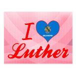 Amo a Luther, Oklahoma Tarjetas Postales