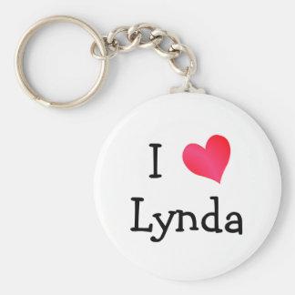 Amo a Lynda Llavero Redondo Tipo Pin