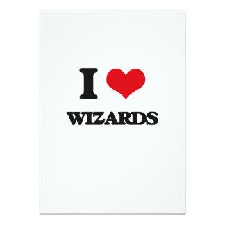 Amo a magos invitación 12,7 x 17,8 cm