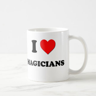Amo a magos taza básica blanca