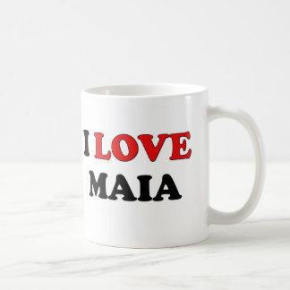Amo a Maia Tazas De Café