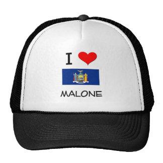 Amo a Malone Nueva York Gorras De Camionero