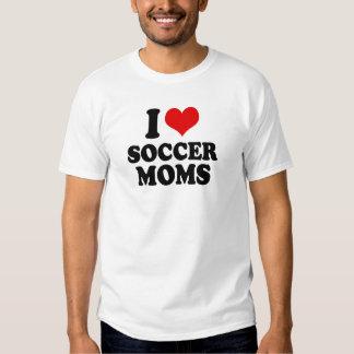 Amo a mamáes del fútbol del amor camisas