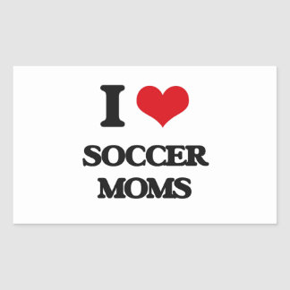 Amo a mamáes del fútbol pegatina rectangular