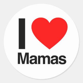 amo a mamáes pegatina redonda