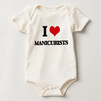 Amo a manicuros trajes de bebé