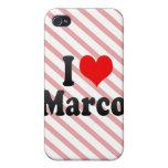 Amo a Marco iPhone 4 Protectores