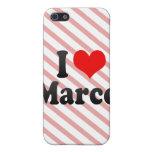Amo a Marco iPhone 5 Cárcasas