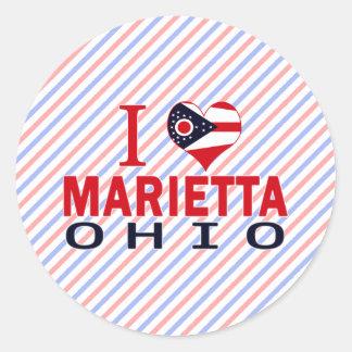 Amo a Marietta Ohio Pegatina