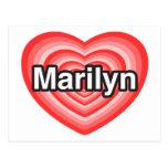 Amo a Marilyn. Te amo Marilyn. Corazón Postal