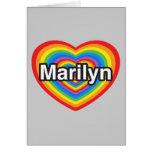Amo a Marilyn. Te amo Marilyn. Corazón Felicitación