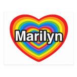 Amo a Marilyn. Te amo Marilyn. Corazón Tarjetas Postales