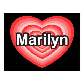 Amo a Marilyn. Te amo Marilyn. Corazón Tarjeta Postal