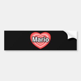 Amo a Mario. Te amo Mario. Corazón Pegatina Para Auto