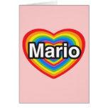 Amo a Mario. Te amo Mario. Corazón Felicitación