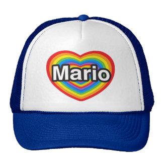 Amo a Mario. Te amo Mario. Corazón Gorro De Camionero
