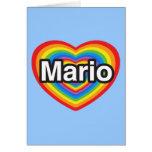 Amo a Mario. Te amo Mario. Corazón Tarjeta