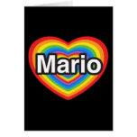 Amo a Mario. Te amo Mario. Corazón Tarjetas