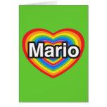 Amo a Mario. Te amo Mario. Corazón Tarjeton