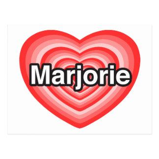 Amo a Marjorie. Te amo Marjorie. Corazón Tarjeta Postal