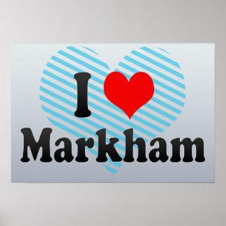 Amo a Markham Canadá Poster