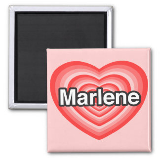 Amo a Marlene. Te amo Marlene. Corazón Imanes De Nevera