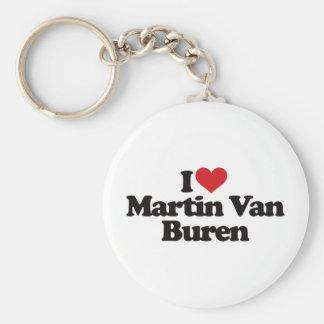 Amo a Martin Van Buren Llavero Redondo Tipo Pin