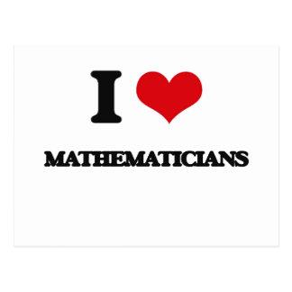 Amo a matemáticos tarjeta postal