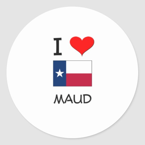 Amo a Maud Tejas Etiqueta Redonda