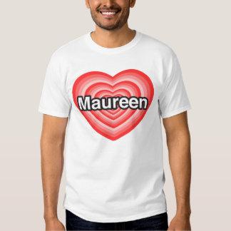 Amo a Maureen. Te amo Maureen. Corazón Remeras