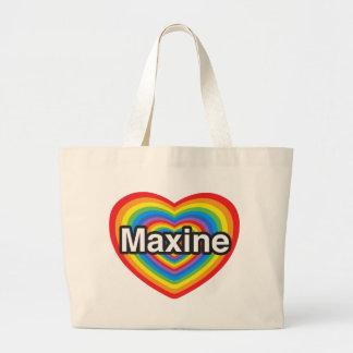 Amo a Maxine. Te amo Maxine. Corazón Bolsa De Mano