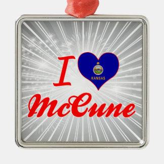 Amo a McCune Kansas Ornamento Para Arbol De Navidad