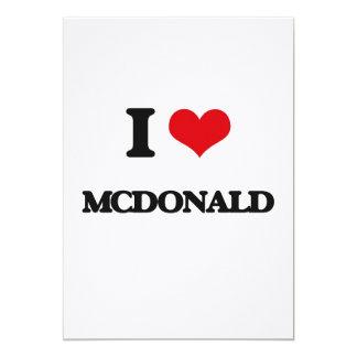 Amo a Mcdonald Invitación 12,7 X 17,8 Cm