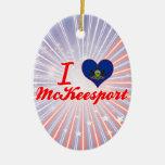 Amo a McKeesport, Pennsylvania Ornaments Para Arbol De Navidad