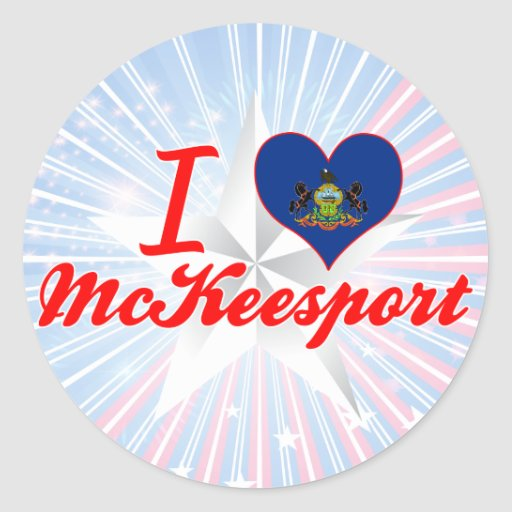 Amo a McKeesport, Pennsylvania Pegatina Redonda