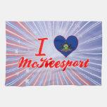Amo a McKeesport, Pennsylvania Toalla De Cocina