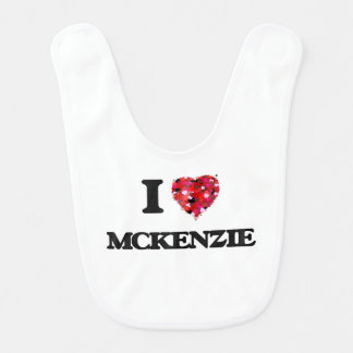 Amo a Mckenzie Babero De Bebé