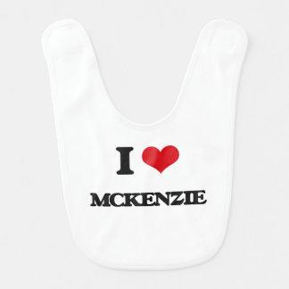 Amo a Mckenzie Baberos Para Bebé
