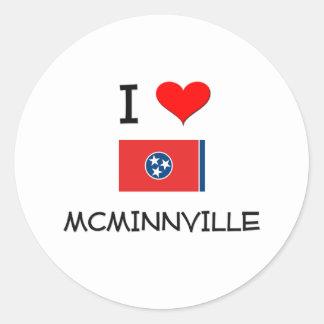Amo a Mcminnville Tennessee Pegatina Redonda