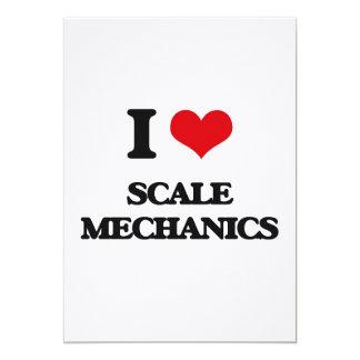 Amo a mecánicos de la escala invitación 12,7 x 17,8 cm