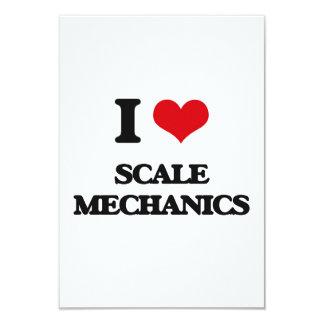 Amo a mecánicos de la escala invitación 8,9 x 12,7 cm