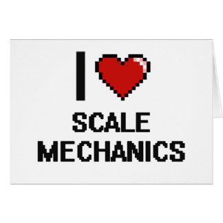 Amo a mecánicos de la escala tarjeta pequeña