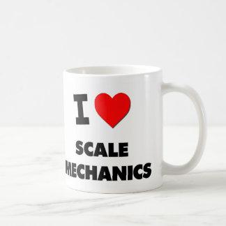 Amo a mecánicos de la escala tazas de café