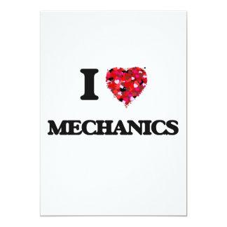 """Amo a mecánicos invitación 5"""" x 7"""""""