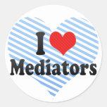 Amo a mediadores etiquetas redondas