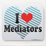 Amo a mediadores tapete de raton
