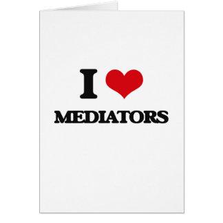 Amo a mediadores tarjeta