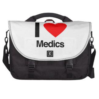 amo a médicos bolsas de portátil